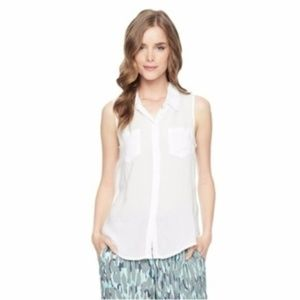 SPLENDID sleeveless shirting top small  SIZE S